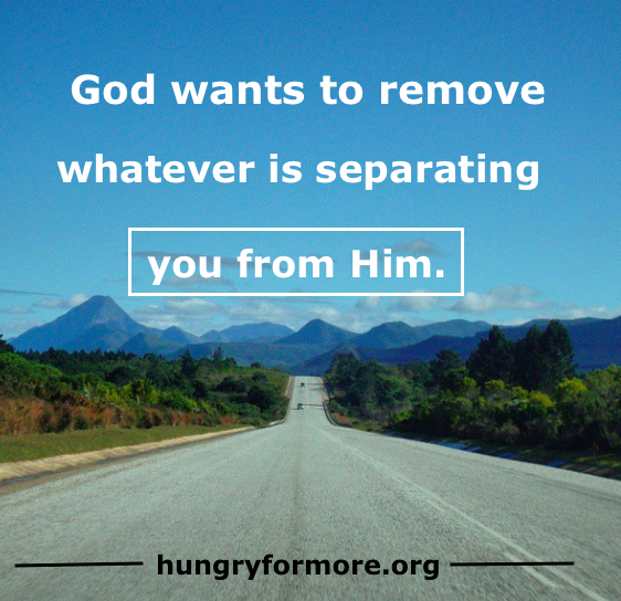 separating you from Him