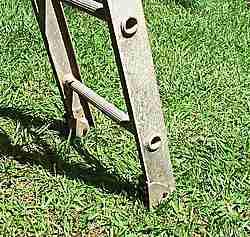 Bottom rung of the ladder